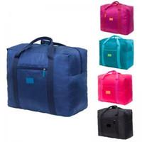 Wholesale travel handbags online - 5styles travel Luggage Bags Diaper Bag Casual Beach storage bag handbag Shopper Bag women girls pouch Organizer toiletry kits FFA1488