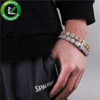 ingrosso catene di diamanti di hip hop-Designer di lusso di Hip Hop dei braccialetti Mens diamante Bracciale tennis Bling braccialetto Catene Iced Out Charms Accessori di moda Rapper