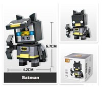 modelos de juguetes de batman al por mayor-Mini bloques de superhéroes Modelo Batman Capitán América Thor Hierro Ladrillos de hierro Figura de acción Ensamblaje niños Bloques Juguetes