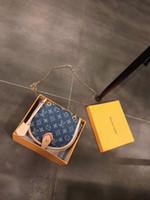 ingrosso piccoli sacchetti di messaggero di denim-2019 NUOVE ARRIVATE borse donna borse donna designer piccola borsa messenger ragazza tracolle catena denim crossbody
