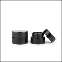 boş konteyner kozmetik toptan satış-Klasik Vida ile 5 ml Kozmetik Siyah Cam Kavanoz Üst Boş Kavanoz Konsantre Konteyner Fabrika Kaynağı Ücretsiz Nakliye