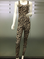 ingrosso vestiti sexy del leopardo-Fashion Womens Jumpsuits Casual Summer Sexy Sleeveless Lady Jumpsuits Hot Leopard Pagliaccetti Top Abbigliamento donna