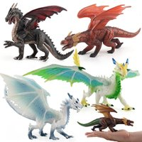 Wholesale flying monkey toy resale online - Children Model Solid Dinosaur Model Doll Wild Animal Plastic Flying Dragon Dinosaur Toy Decoration Collection