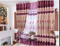 weiße baumwoll-blackout-vorhänge großhandel-6M Freies Verschiffen-bloße Vorhänge Freies Verschiffen-purpurrotes Rod-Taschen-Vorhang Fertiger Vorhang