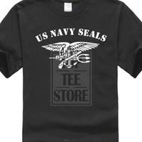 exército de usmc venda por atacado-2019 Venda Quente de Verão de Algodão Impresso Tee Shirt Dos Homens T Shirt Us Marinha Do Exército Selos Com Âncora De Águia Usmc Fuzileiros Navais Wwii Camisa Design