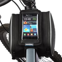 Wholesale roswheel phone for sale - Group buy Roswheel L Waterproof Bicycle Bag Cycling Frame Front Head Tube Touch Screen Pannier Double Case Pouch for in Phone
