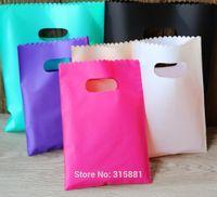 ingrosso sacchetti di regalo in plastica variopinta-Sacchetti per la spesa di plastica variopinti dei sacchetti dei sacchetti dei sacchetti di regalo 50pcs / lot di plastica