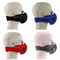 Wholesale bicycle face resale online - Anti fog dust mask outdoor riding bicycle protective mask ski half face mask filter colors LJJZ490