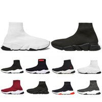 Wholesale shoes boots sale resale online - Hot Sale Sock designer Speed Trainer Brand Shoes black white red Flat Fashion Socks Boots Sneakers Trainers Runner size