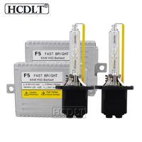 Wholesale ac conversion kits car resale online - HCDLT AC W F5 Second Fast Start Ballast Xenon Conversion Kit K Super Bright H1 H11 D2H H7 Car Headlight Bulbs