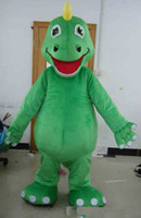 2019 Factory Outlets hot plush fur suit green dino dinosaur mascot costume for adult to wear