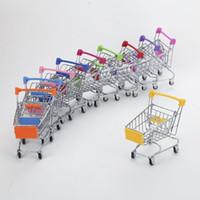 bebek arabası oyuncak toptan satış-Mini Süpermarket Handcart Arabası Oyuncak Bebek Oyuncakları Arabaları Modu Depolama Katlanır Alışveriş Sepeti Sepet Oyuncaklar Çocuk Yenilik Öğeleri 100 adet AAA1134