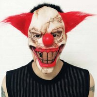 Wholesale masquerade masks plastic party supplies resale online - Halloween Masks Scray Joker Clown Latex Mask Full Face Horror Costume Party Mask Horrible Cosplay Makeup Performance Masquerade Supplies