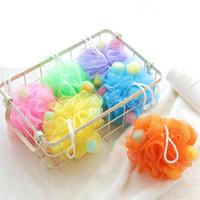 productos de limpieza corporal al por mayor-Fashion Bath Ball Bathsite Bath Tubs Cool Ball Bath Towel Scrubber Limpieza del cuerpo Malla Ducha Lavar Esponja Producto