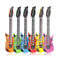 Wholesale guitar supplies resale online - 53CM Inflatable Guitar Balloon Party Accessories Inflatable Decorative Balloons Toys Children Gift for Kid Party Favors Supplies