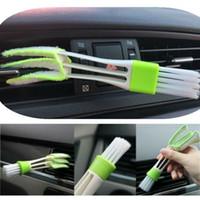 cepillo de limpieza de ventilación de coche al por mayor-1 Unid Office Car Auto Air Outlet Vent Dashboard Limpiador de Polvo Cepillo de Limpieza Herramienta