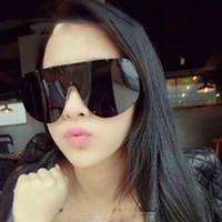 ingrosso occhiali a colori del cranio-occhiali da sole firmati occhiali da sole oversize Siamese occhiali da sole teschio Moda spiaggia occhiali da sole neri rosa anti-UV400 7 colori