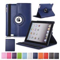 galaksi tabları deri çanta toptan satış-360 Döner Ayaklı PU Deri Standı Kılıf için iPad 10.2 Pro 11 10.5 9.7 2018 2 3 4 5 6 Mini Samsung Tab P200 T510 T515 T720 T590 T860 T290