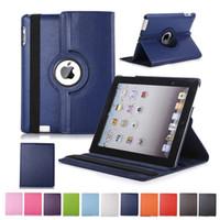 funda tablet para samsung galaxy tab al por mayor-360 Rotación del tirón de la PU del soporte del cuero para el iPad de 10.2 Pro 11 10,5 9,7 2018 2 3 4 5 6 Mini Samsung Tab P200 T510 T515 T720 T590 T860 T290