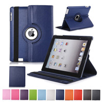 casos para lenovo ideapad venda por atacado-360 Rotating Virar suporte de couro PU iPad capa para 10.2 Pro 11 10,5 9,7 2018 2 3 4 5 6 Mini Samsung Tab P200 T510 T515 T720 T590 T860 T290