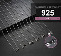 Wholesale 925 sterling silver chains twisted resale online - Sweater chain electroplated Sterling Silver Necklace women s versatile clavicle Cable inch inch inch Basic acc085