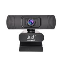 ingrosso camme web usb-ASHU Webcam 1080P USB 2.0 Web fotocamera digitale con microfono Clip-on Full HD 1920x1080P Webcam con fotocamera CMOS da 2,0 Megapixel