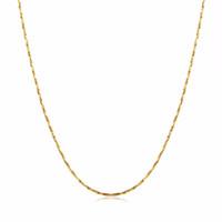 18kgp goldkette halskette großhandel-ganze saleWomen feine dünne Kette für Anhänger 18KGP Galvanisieren Gold Rose Gold Silber 0.5mm Halsketten Ketten Beständigkeit gegen Verblassen Ketten