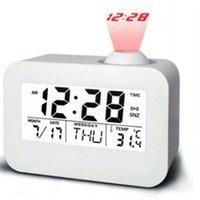 ingrosso orologi usati-Moda Temperatura Data Retroilluminazione Home Office Uso Proiezione Sveglia multifunzione Studenti ABS Wake Up Digital Display