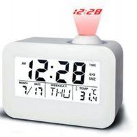 gebrauchte uhren großhandel-Mode Temperatur Datum Hintergrundbeleuchtung Home Office Verwenden Projektion Multifunktions-Wecker Studenten ABS Wake Up Digital Display