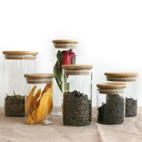 Wholesale glass gift jar for sale - Group buy DIY Transparent Kitchen Glass Canisters Jar Storage Corks Cover Jars Bottles For Sand Liquid Food Eco Friendly Glass Bottles With Bamboo Lid
