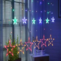 Wholesale led white wall curtain lights for sale - Group buy Led star string lights holiday starry bedroom curtains star lights wedding star decoration lights