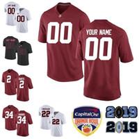 ingrosso maglietta personalizzata da uomo-T-shirt da calcio personalizzate da uomo Kid Alabama Crimson Tide Josh Jacobs Brian Robinson Jr Jaylen Waddle Dylan Moses Henry Ruggs III Thompson