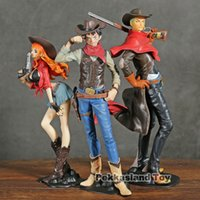Wholesale luffy nami resale online - Anime One Piece Treasure Cruise World Journey Luffy Nami Zoro Cowboy Ver PVC Action Figure Collection Model Toys Doll