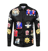 a023869e2cc59 Wholesale silk chemise dress for sale - kkkAutumn Harajuku luxury brand  Medusa shirts Fashion hawaiian Retro