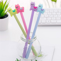 Wholesale anime stationery resale online - 12pcs Funny Colored Alpaca Gel Pen Cute Anime Stationary School Office Supplies Material Thing Bts Student Stationery Item Goods
