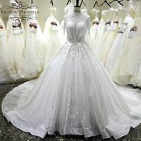 ingrosso abiti da sposa bridali-Irina Bridals Abiti da Sposa Abito da Sposa con Collo Alto