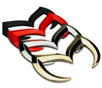 Wholesale cool car decorations online - Beautiful Cool Alloy Evil M bat Shaped Tail Badge Decal Emblem Universal for MAZDA Car Decoration Colors