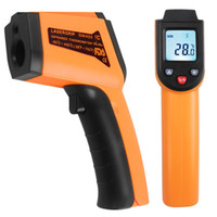 Wholesale thermometer contact laser resale online - Non contact laser liquid crystal display infrared digital C F select surface thermometer pyrometer imager