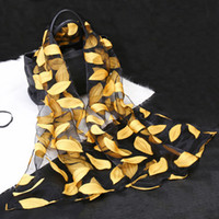 ingrosso scialle puro-Foulard in seta Womens Summer Breeze Leggero Sheer Wrap in organza Sciarpa in garza Scialle in foglia di poliestere sciarpe libera la nave