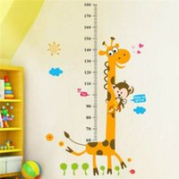 Wholesale measuring height wall stickers for sale - Group buy Removable Height Chart Measure Wall Sticker Decal for Kids Baby Room Giraffe