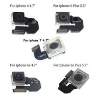 arka yüz kamerası toptan satış-Ana arka kamera için iphone 4 4 s 5 5 s 5c 6 6 s 7 8 artı arka kamera ile flex kablo bakan model cep telefonu parçaları