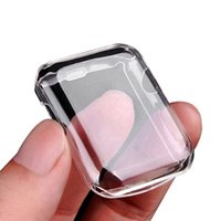 Wholesale ultra slim smart watch resale online - Watch Cover for Apple Watch Case mm mm Series Soft Slim TPU Ultra thin Transparent Screen Protector Case Watch Accessories