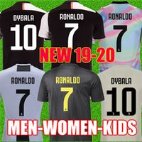f2d9d282442 Thailandia RONALDO Juventus 2019 2020 Fans versione Champion league maglie  calcio DYBALA 18 19 20 EA sports kit calcio maglia uomo DONNE KIDS taglia  JUVE ...