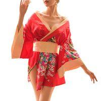 yukata roben großhandel-2019 neue Frauen traditionelle japanische Kimono-Stil Robe Yukata Kostüme Pyjamas