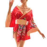batas japonesas yukata al por mayor-2019 nuevas mujeres tradicionales Kimono estilo japonés bata Yukata disfraces pijamas