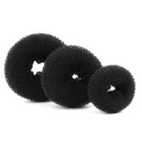 стили булочных колец оптовых-Hair Bun Maker Donut Magic Foam Губка Easy Big Ring Инструменты Для Укладки Волос Продукты Прически Аксессуары Для Девочек Женщин Lady