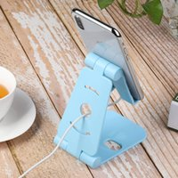 soporte para teléfono plegable al por mayor-Nuevo teléfono plástico plegable ABS soporte para teléfono móvil soporte para teléfono celular moda para iPhone 6 7 8 x para Samsung S8 soporte para teléfono móvil iPad soporte