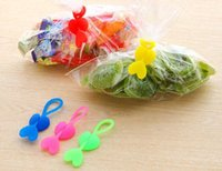 Wholesale bread tie for sale - Group buy New Home Food grade Silicone Bag Ties Cable Management Zip Tie Twist Multi use Bag Clip Bread Tie Food Saver
