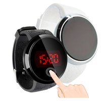 Wholesale touch screen led watch black resale online - Fashion Waterproof Mens Watch LED Touch Screen Date Silicone Wrist Black Women Watches Digital Wristwatches Ladies