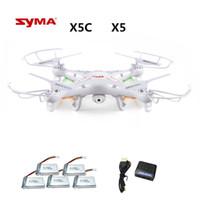 drone syma x5c 2.4g toptan satış-Syma X5c X5c-1 (2.0mp Kamera ile Drone) Rc Drone Quadcopter Veya Syma X5 X5-1 (kamera yok) 2.4g 4ch Dron Rc Quadcopter Oyuncak T190621